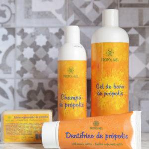 Pack higiene: Champú, Gel, Jabón y Dentífrico