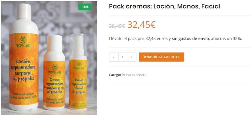 pack cremas propolis propol mel