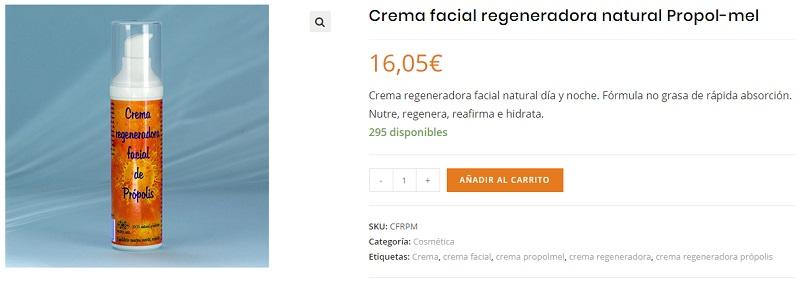 Crema facial natural propoleo propolmel