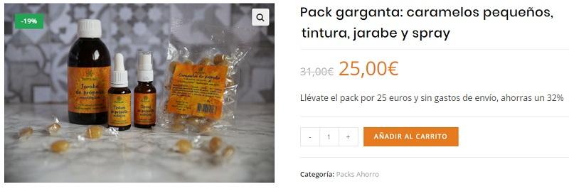 Pack garganta propolis Propol Mel